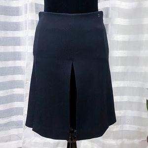 Chanel Silk Lined Wool Pleated Black Skort EU 36
